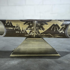 Altavoz de bambú Amalur modelo tallado BOROBUDUR